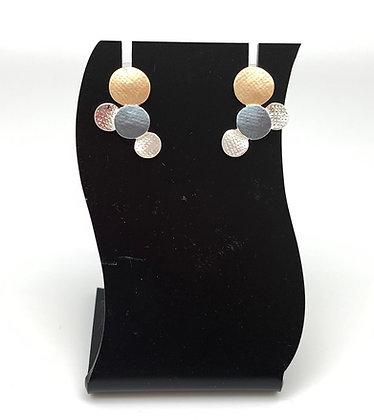 SE34 Rain Bubbles Classic Combination Earrings
