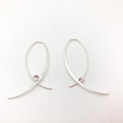 ES 357 Silver Loop Earrings