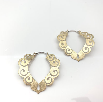 EG336 Gold Songoku Earrings