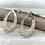 Thumbnail: H178 Tri color Earrings
