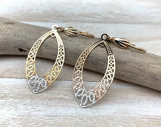 H178 Tri color Earrings