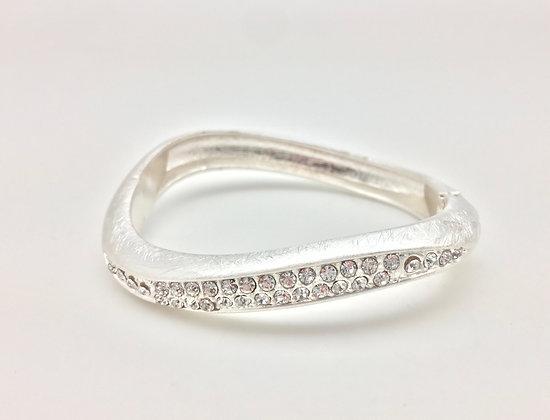 BS23 Silver Wave with CZ Bracelet
