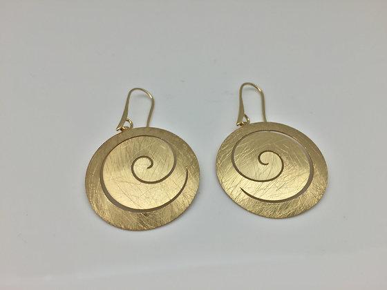 EG 6. Gold Swirl Earring