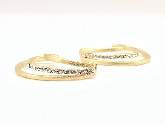 EG289 Gold Wave Crest Earrings