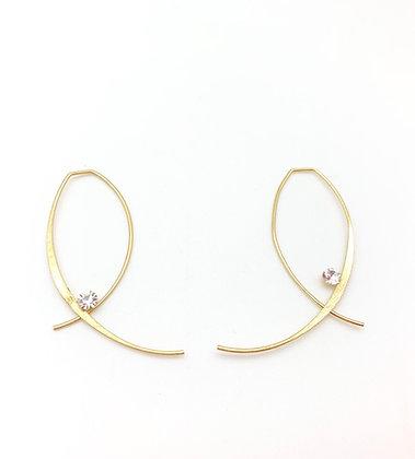 EG356 Gold Loop Earrings