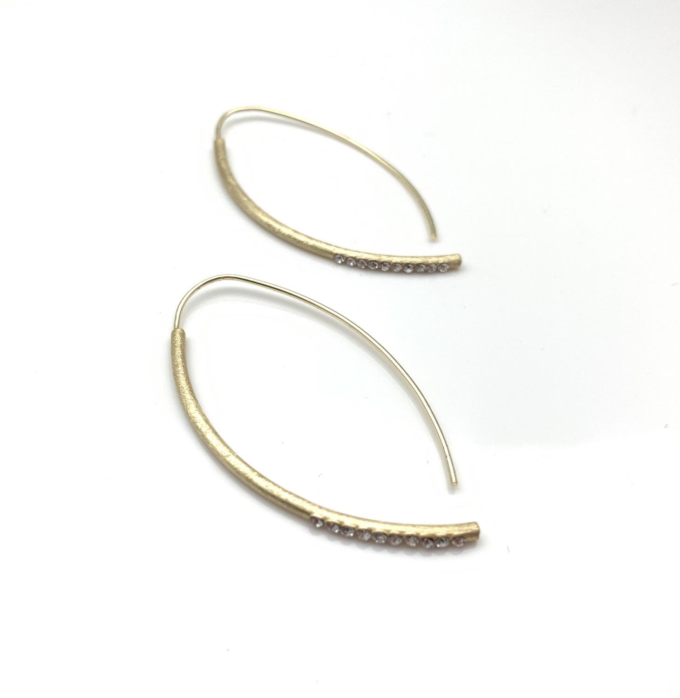 EG438 Gold Sparkle Swing Earrings