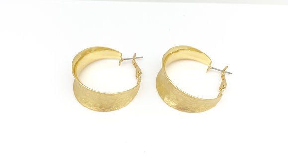 EG304 Gold Perfect Elegant Hoop Earrings