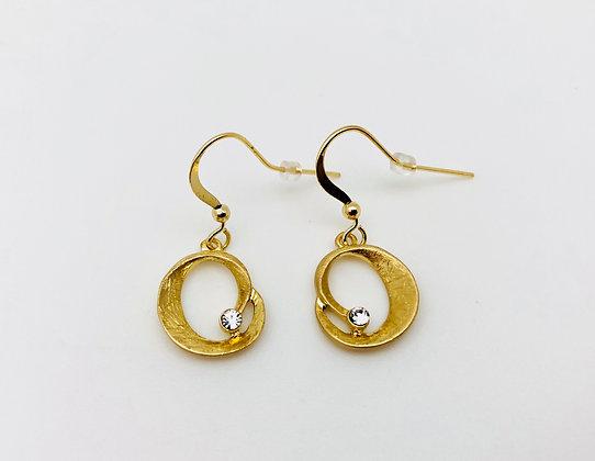 EG161 Gold Small Wave Earrings