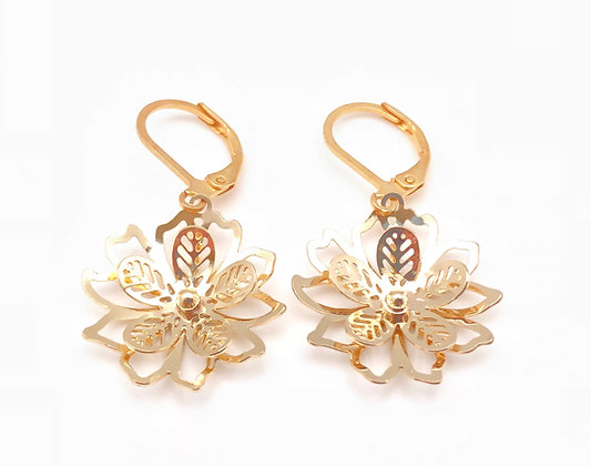 H85 Flower earrings