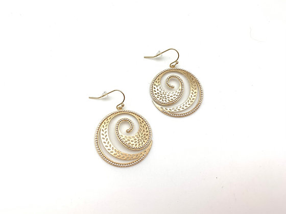 EG410 Gold and Silver Wave Earrings