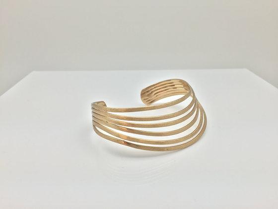 WG 5. Lines Gold Bracelet, Sale Final Price $8
