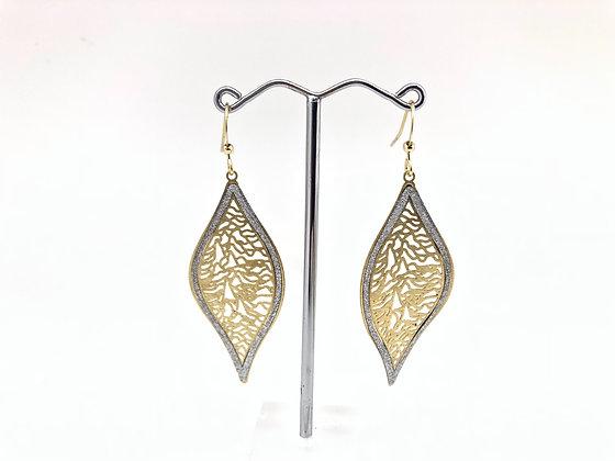 EG275 Gold Sparkling Forest Mori Earrings