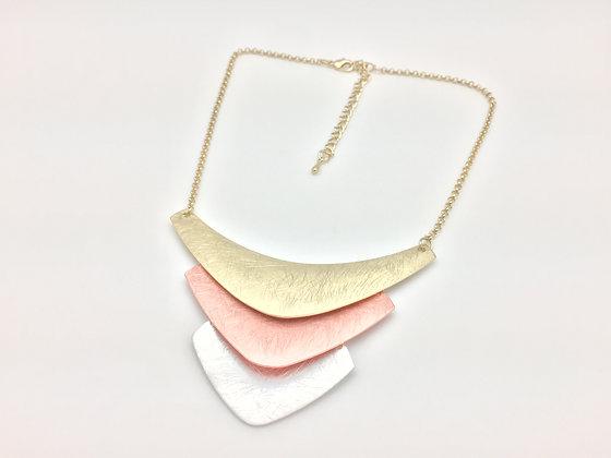 NG11 Sale $13 Tri Color Chevron Gold, Rose Gold, Silver Nec