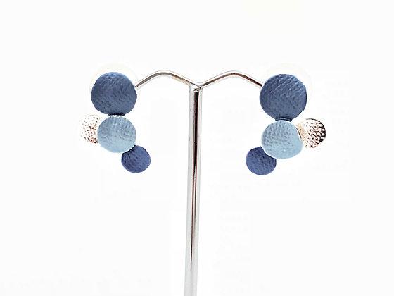 SE9 Blue Bubbles Post Earrings