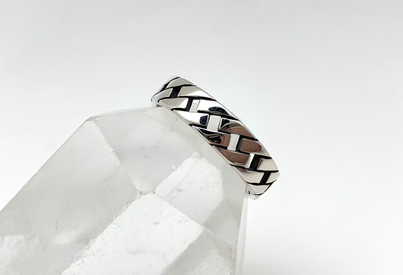 SR28 Silver Curb Link Ring size 4-10