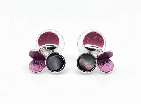 SE12 Pink and Gray Okashi Earrings