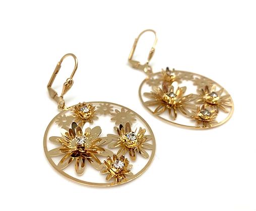H165 Happy Flower Earrings