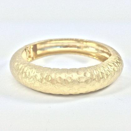 WB4 Gold Hamered Hinged Bracelet, Sale Final Price $8