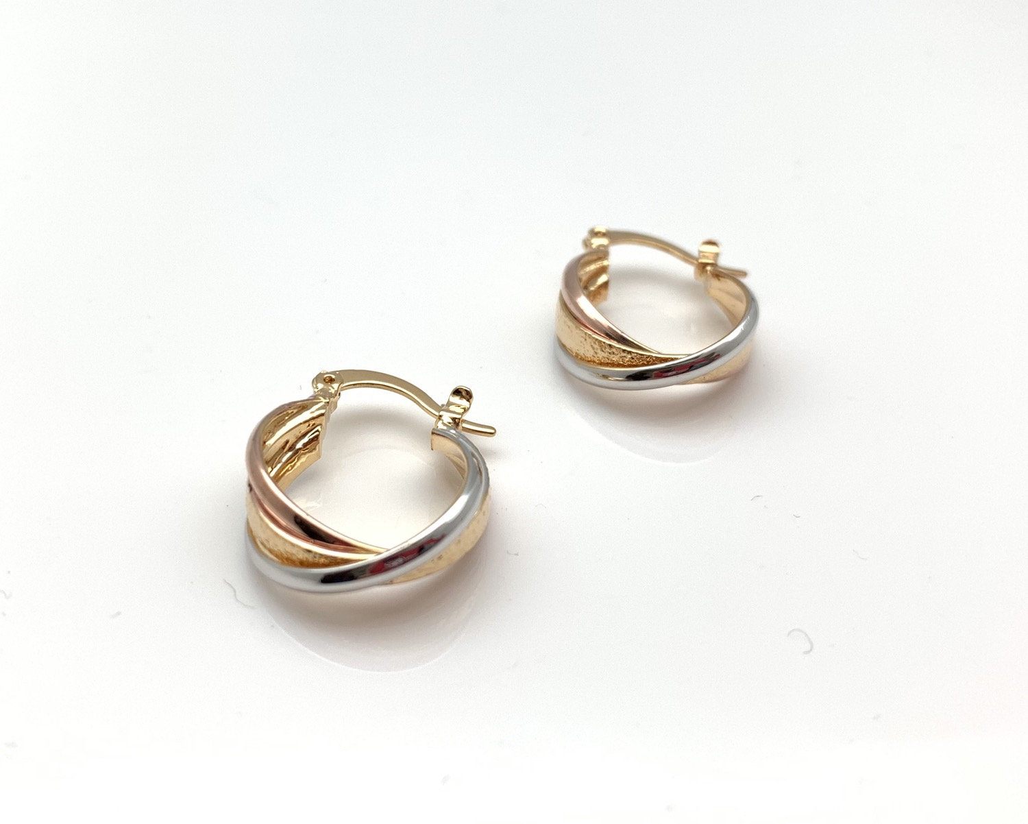 Thumbnail: H126 Tricolor Small Medium Hoop, Best Selling