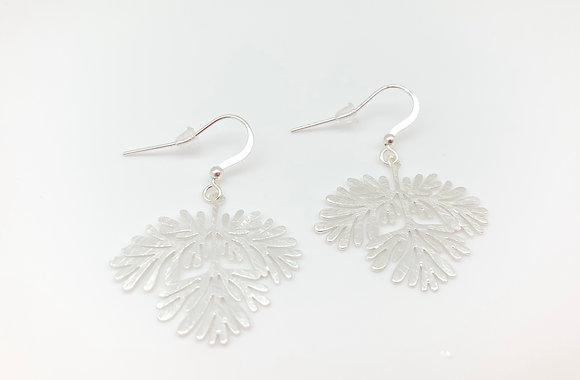 ES303 Silver Momiji Branch Earrings