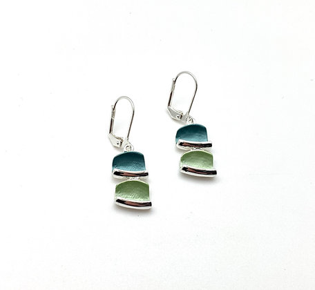 SE38 Blocks Tumiki Green Color Earrings
