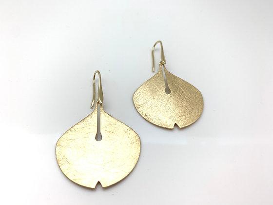 EG402 Gold Gingko Earrings, Best Seller, Restocked
