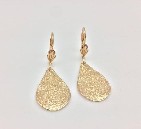 H22 Drop Earrings, Gold Fill, Lever Back