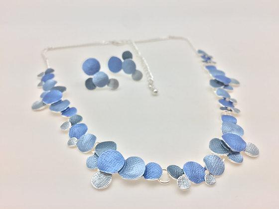 #32 Blue Sea Foam (Rain, Ame) Necklace Set