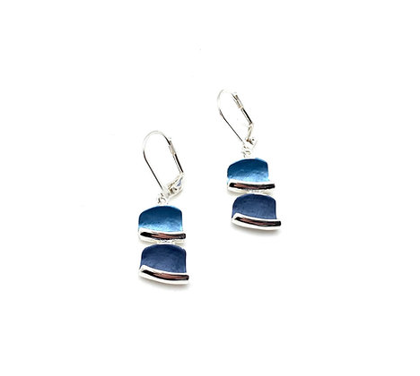 SE39 Blocks Tumiki Blue Earrings
