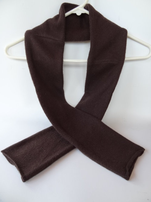 Ultra soft recycled - repurposed cashmere scarf: 1 available; brown