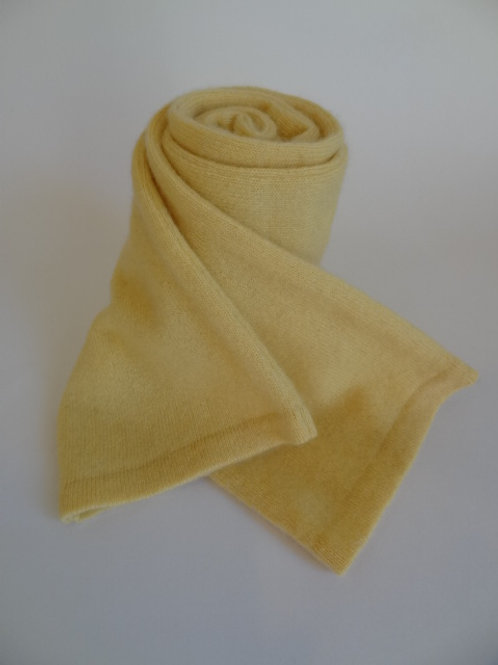 Ultra soft recycled - repurposed cashmere scarf: 1 available; yellow