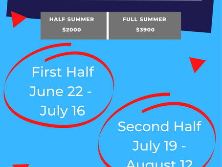 Dates announced for summer 2021!