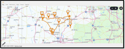 15. Route Navigating routing screen Maps