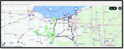 15. Route Navigating tracking screen Map