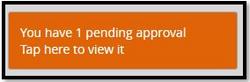 10. Partner resolving pending approvals