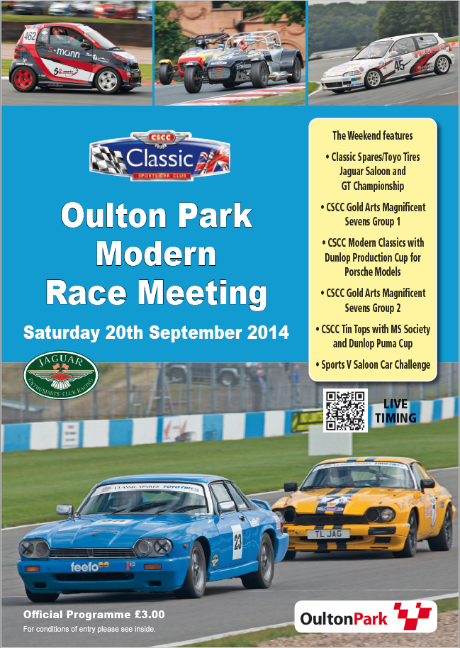 Oulton 2014 Race Programme | Classic Sports Car Club | Home