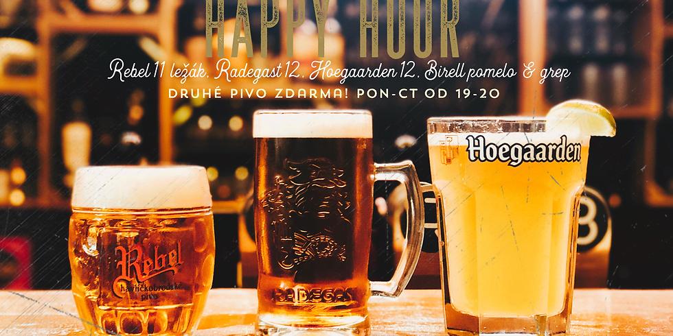 Happy Hour! Druhé pivo zdarma!
