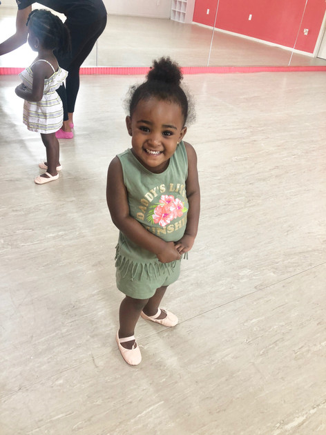 Miss Vannah is excited about her new dance class!