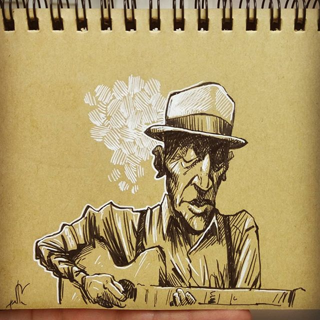 One old bluesman. . . . .