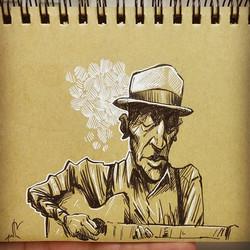 One old bluesman. . . . .