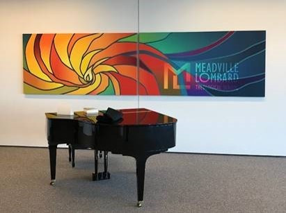 Meadville Lombard logo, chalice art and photos by Tomo Hillbo, Director of Communications