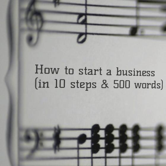 An entrepreneurs sheet music