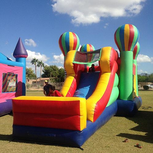 Large balloon bounce house combo slide