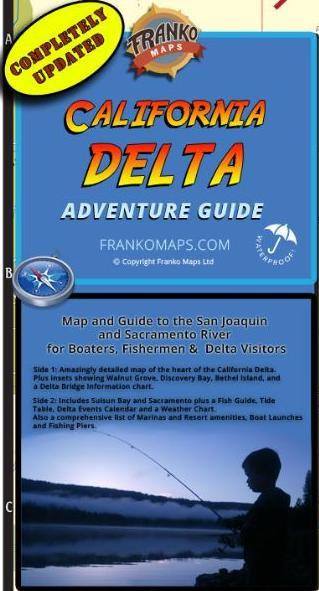2021 Franko's Caifornia Delta Map