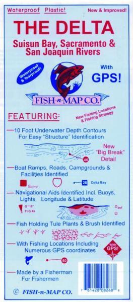 "Fish ""N"" Map California Delta"
