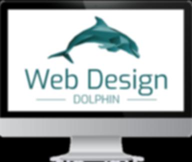 Web Design | Dolphin | Logo | weisser Bildschirm
