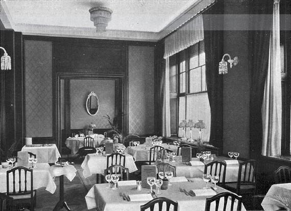 Hier, im Café Huguenin an der Zürcher Bahnhofstrasse, beginnt am 22. Januar 1937 die Geschichte unseres Tennisclubs.