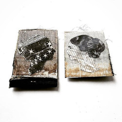 _how the eyes serve the mind No.3_mixed media, found papers mini book_4.25 x 6