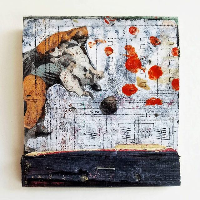 adjustment_mixed media, matchbook collage-_3.75 × 3