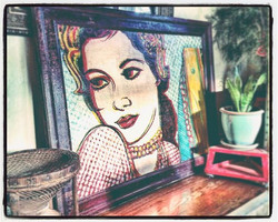 _new work waiting in my living room _while I prep for Friday's Arts Walk _in olympia _ bar francis__